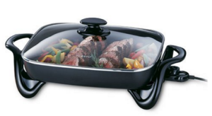 electronic skillet with roast beef