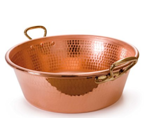 Hammered Copper Jam Pan
