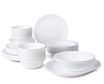 12 person dish set in white - White Dinnerware Sets