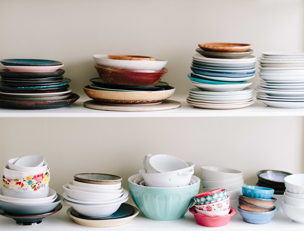 Multi Colored Dishes Stacked & Amazing Dinnerware Sets For 12 People | Skillet Love
