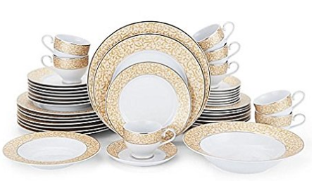 gold-fine-china-set  sc 1 st  Skillet Love & Amazing Dinnerware Sets For 12 People | Skillet Love