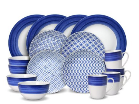 gourmet-blue-white-madison-set  sc 1 st  Skillet Love & Amazing Dinnerware Sets For 12 People | Skillet Love
