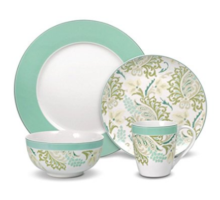 paisley-mint-green-dinnerware  sc 1 st  Skillet Love : dinnerware service for 12 - pezcame.com