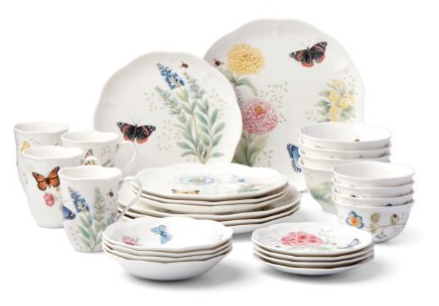 Floral Porcelain Dinnerware Sets. butterfly-meadow-porcelain  sc 1 st  Skillet Love & Beautiful Porcelain Dinnerware Sets | Skillet Love