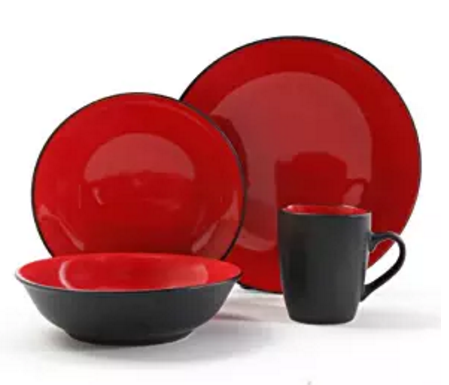red-and-black-dinnerware