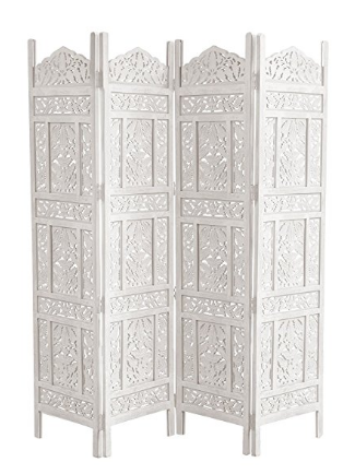 Intricate Wood Room Divider